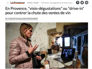 Notre concept d'Oeno Visio Apéro salué par le journal la Provence