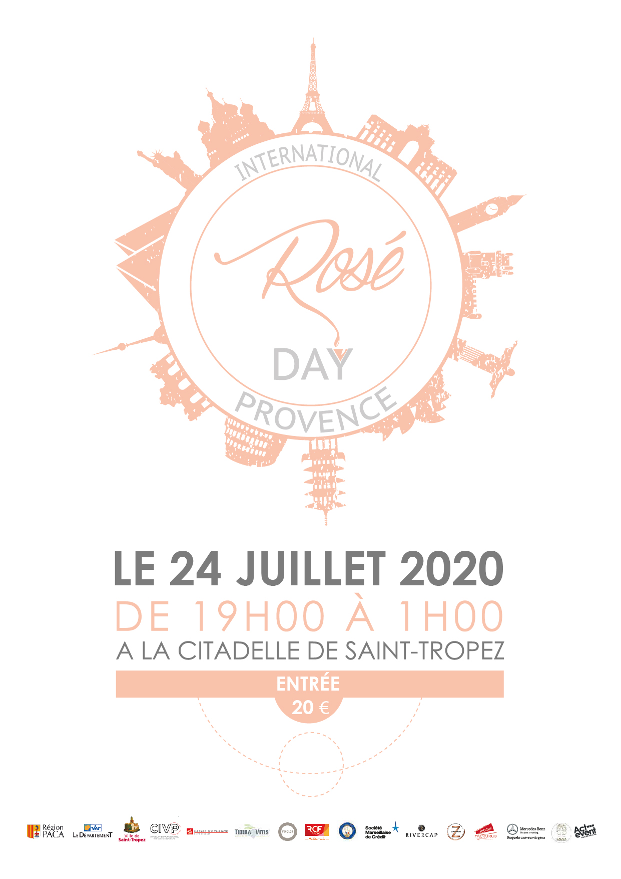 International rosé day Saint Tropez